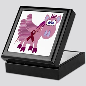 Burgundy Awareness Ribbon Pegasus Keepsake Box