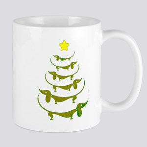 Weiner Dog Dachshund Christmas Mugs