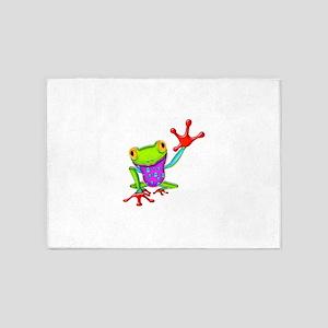 Waving Poison Dart Frog 5'x7'Area Rug