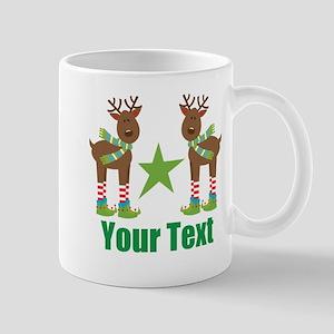 Personalized Christmas Reindeer Mugs