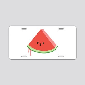 Juicy Watermelon Aluminum License Plate