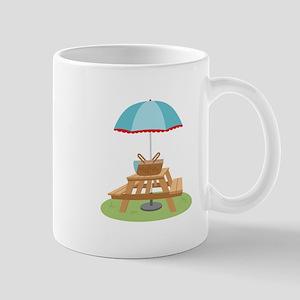 Picnic Table Umbrella Mugs
