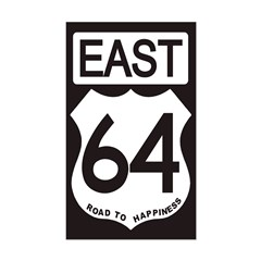64 EAST Bumper Decal
