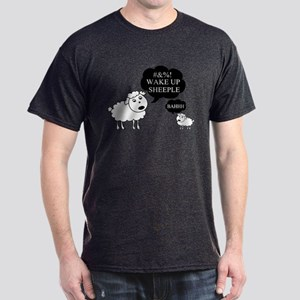 Sheep Says Wake Up Sheeple Dark T-Shirt