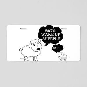 Sheep Says Wake Up Sheeple Aluminum License Plate