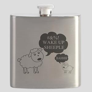 Sheep Says Wake Up Sheeple Flask