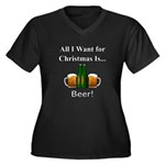 Christmas Be Women's Plus Size V-Neck Dark T-Shirt