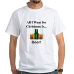 Christmas Beer White T-Shirt