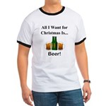 Christmas Beer Ringer T