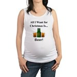 Christmas Beer Maternity Tank Top