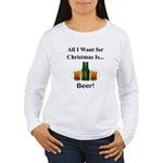 Christmas Beer Women's Long Sleeve T-Shirt