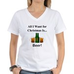 Christmas Beer Women's V-Neck T-Shirt