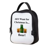 Christmas Beer Neoprene Lunch Bag
