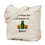 Christmas Beer Tote Bag