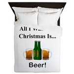 Christmas Beer Queen Duvet