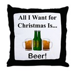 Christmas Beer Throw Pillow