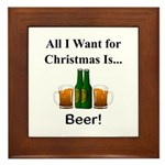 Christmas Beer Framed Tile