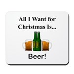 Christmas Beer Mousepad