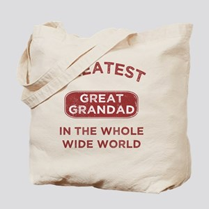 Greatest Great Grandad In The World Tote Bag