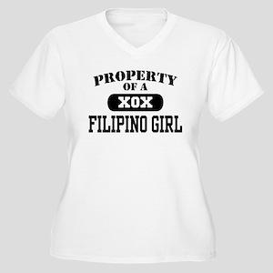 Property of a Filipino Girl Women's Plus Size V-Ne