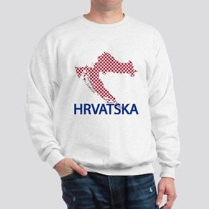 croatiamap-closeupH Sweatshirt