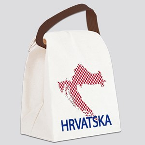 croatiamap-closeupH Canvas Lunch Bag