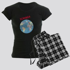 romania-globe Women's Dark Pajamas