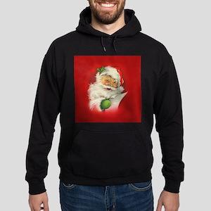 Vintage Christmas Santa Claus Hoodie (dark)