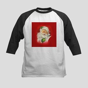 Vintage Christmas Santa Claus Baseball Jersey