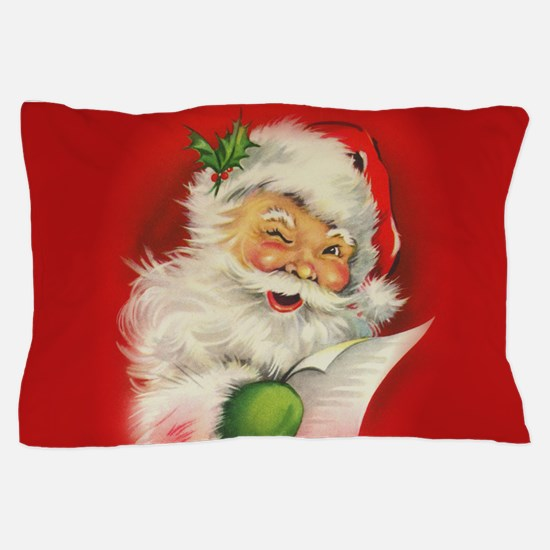 Vintage Christmas Santa Claus Pillow Case