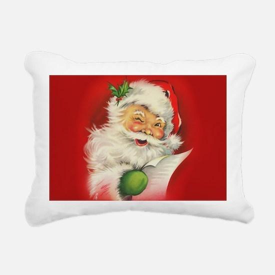 Vintage Christmas Santa Rectangular Canvas Pillow