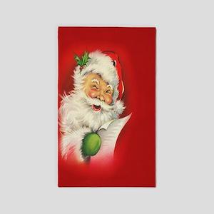 Vintage Christmas Santa Claus Area Rug