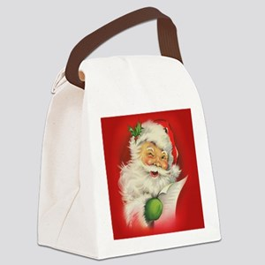 Vintage Christmas Santa Claus Canvas Lunch Bag