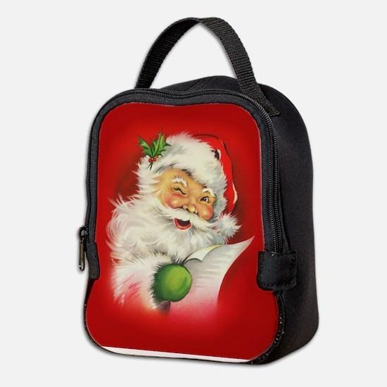 Vintage Christmas Santa Claus Neoprene Lunch Bag