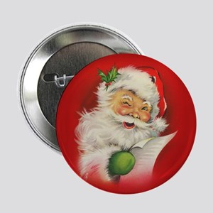 "Vintage Christmas Santa Cla 2.25"" Button (10 pack)"