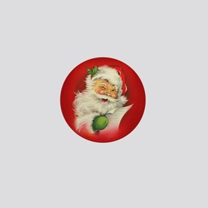 Vintage Christmas Santa Clau Mini Button (10 pack)