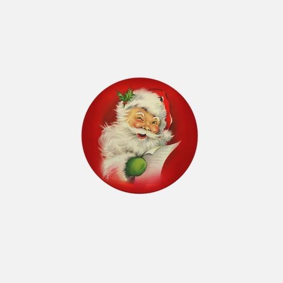 Vintage Christmas Santa Cla Mini Button (100 pack)
