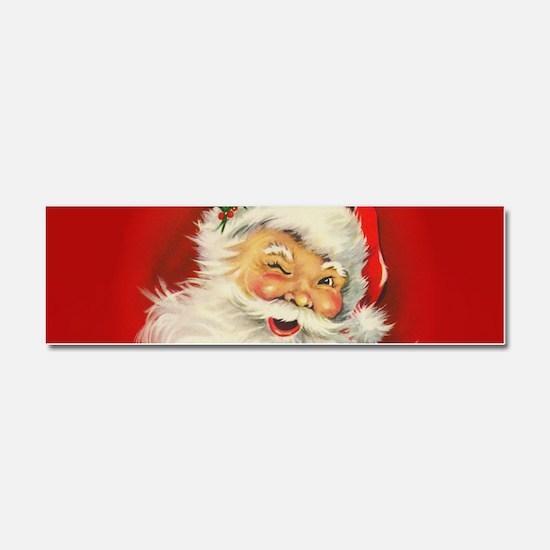 Vintage Christmas Santa Claus Car Magnet 10 x 3