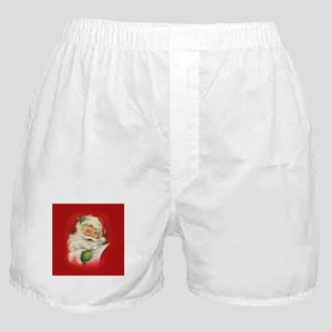 Vintage Christmas Santa Claus Boxer Shorts