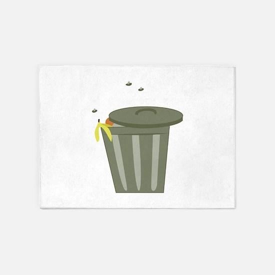 Trash Can 5'x7'Area Rug