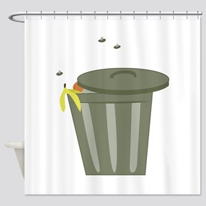 Trash Can Shower Curtain