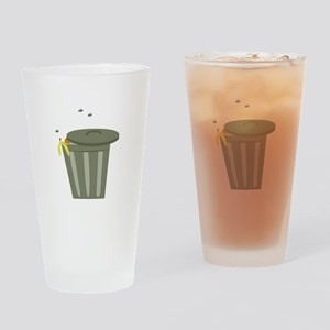 Trash Can Drinking Glass