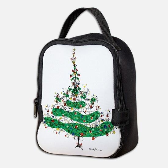 Christmas Dress Neoprene Lunch Bag