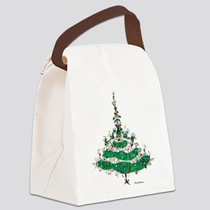 Christmas Dress Canvas Lunch Bag