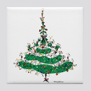 Christmas Dress Tile Coaster