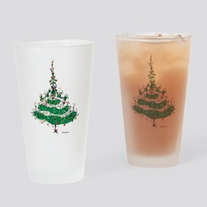 Christmas Dress Drinking Glass