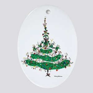 Christmas Dress Ornament (Oval)
