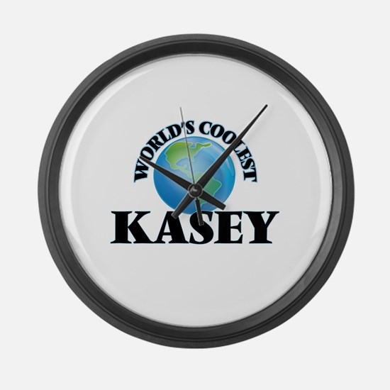 World's Coolest Kasey Large Wall Clock