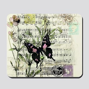 Pansies and music Mousepad