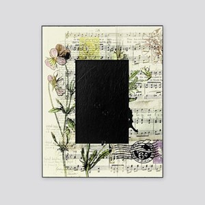 Pansies and music Picture Frame